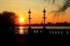 Blick in Hamburg vom Schwanenwik über die Alster
