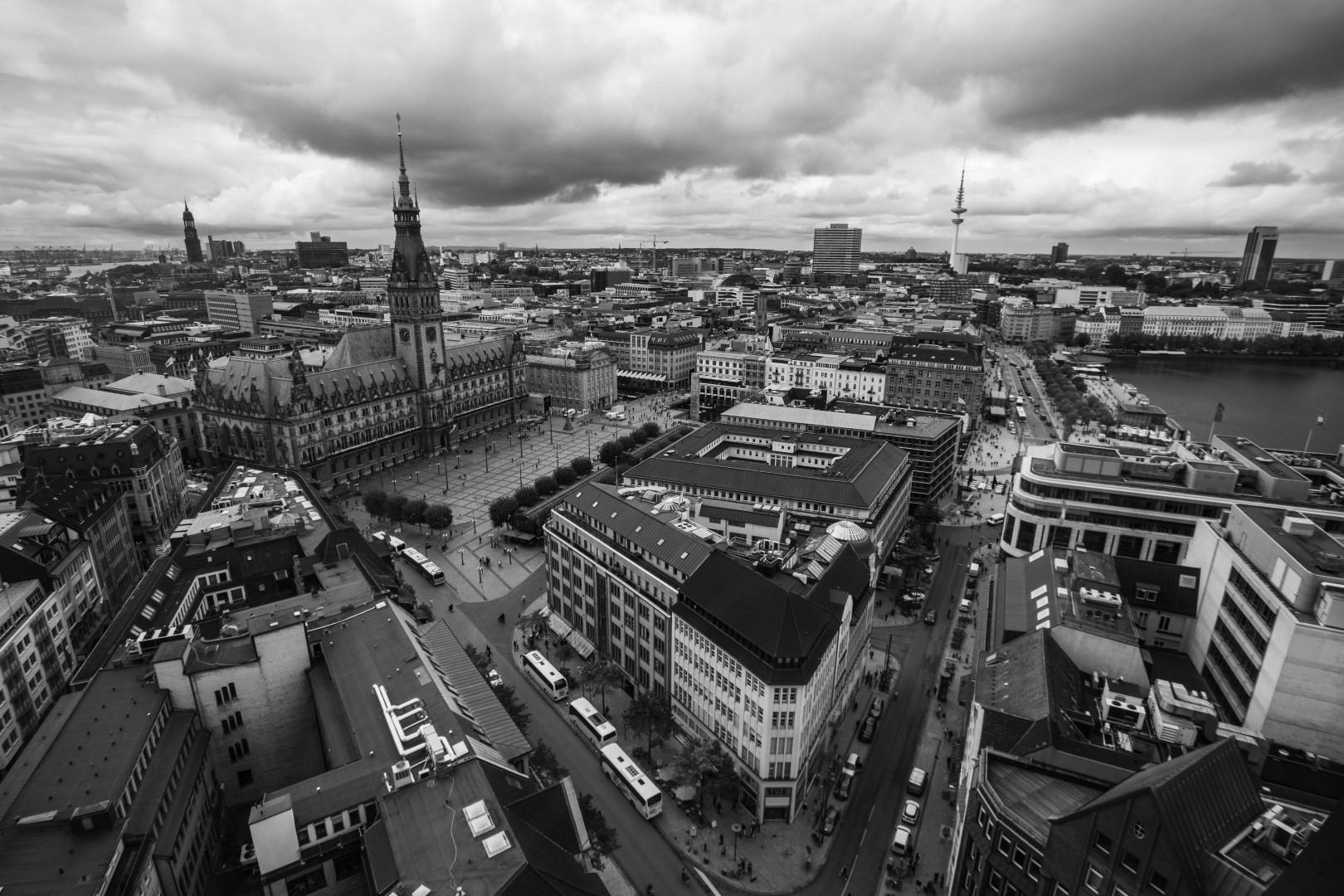 Rathaus und Jungfernstieg