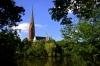 Blick auf St. Gertrud, das geographische Zentrum Hamburgs