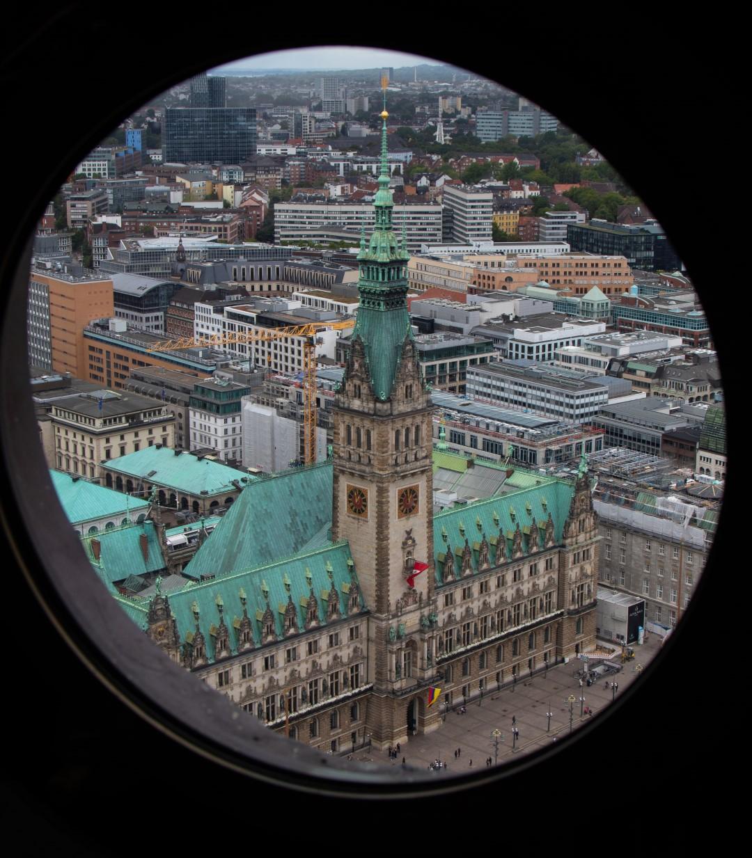 Blick auf's Rathaus